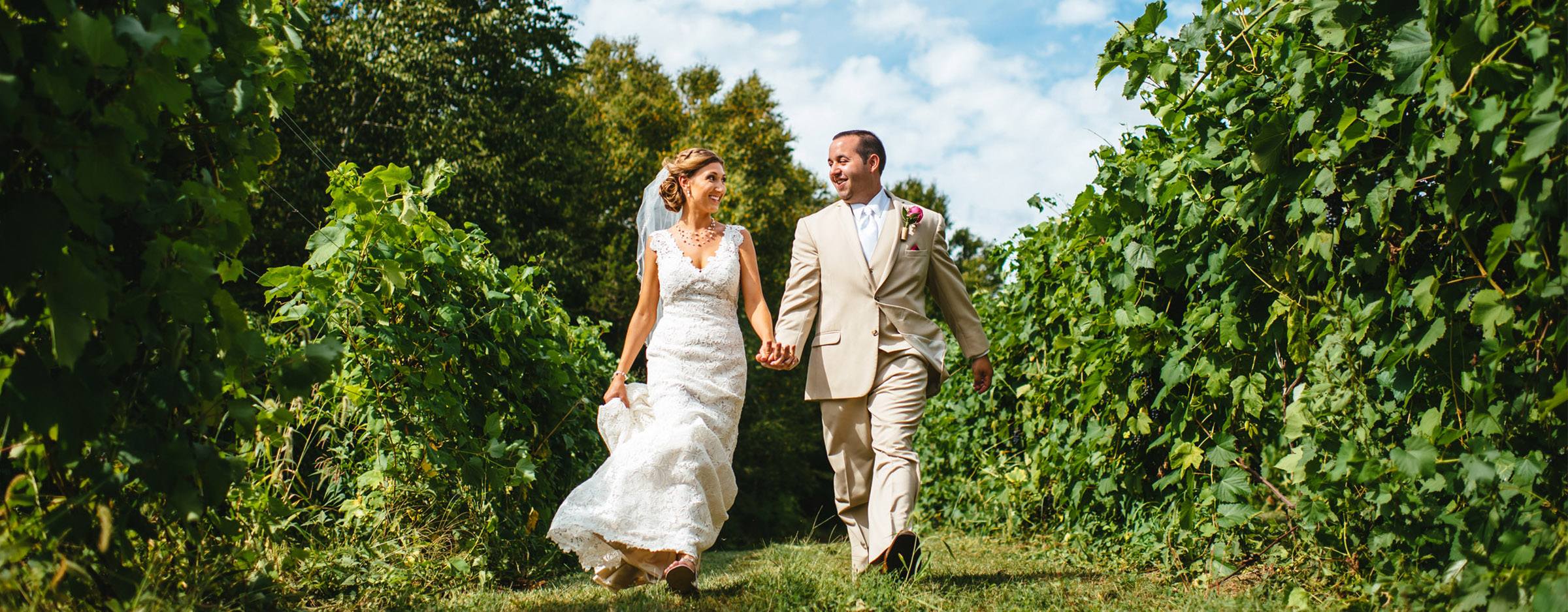 Preston Ridge Vineyard Outdoor Summer Wedding CT