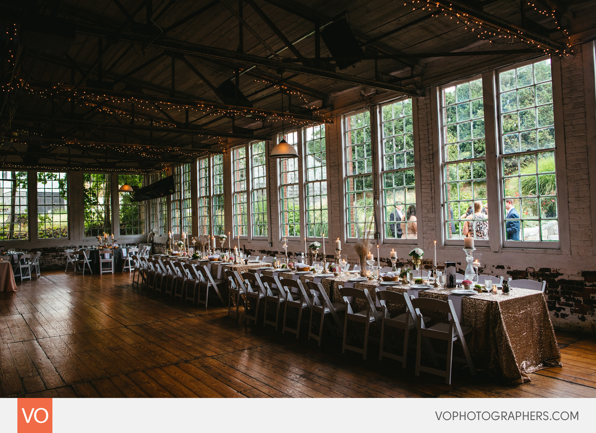Wedding At The Lace Factory In Deep River Table Details